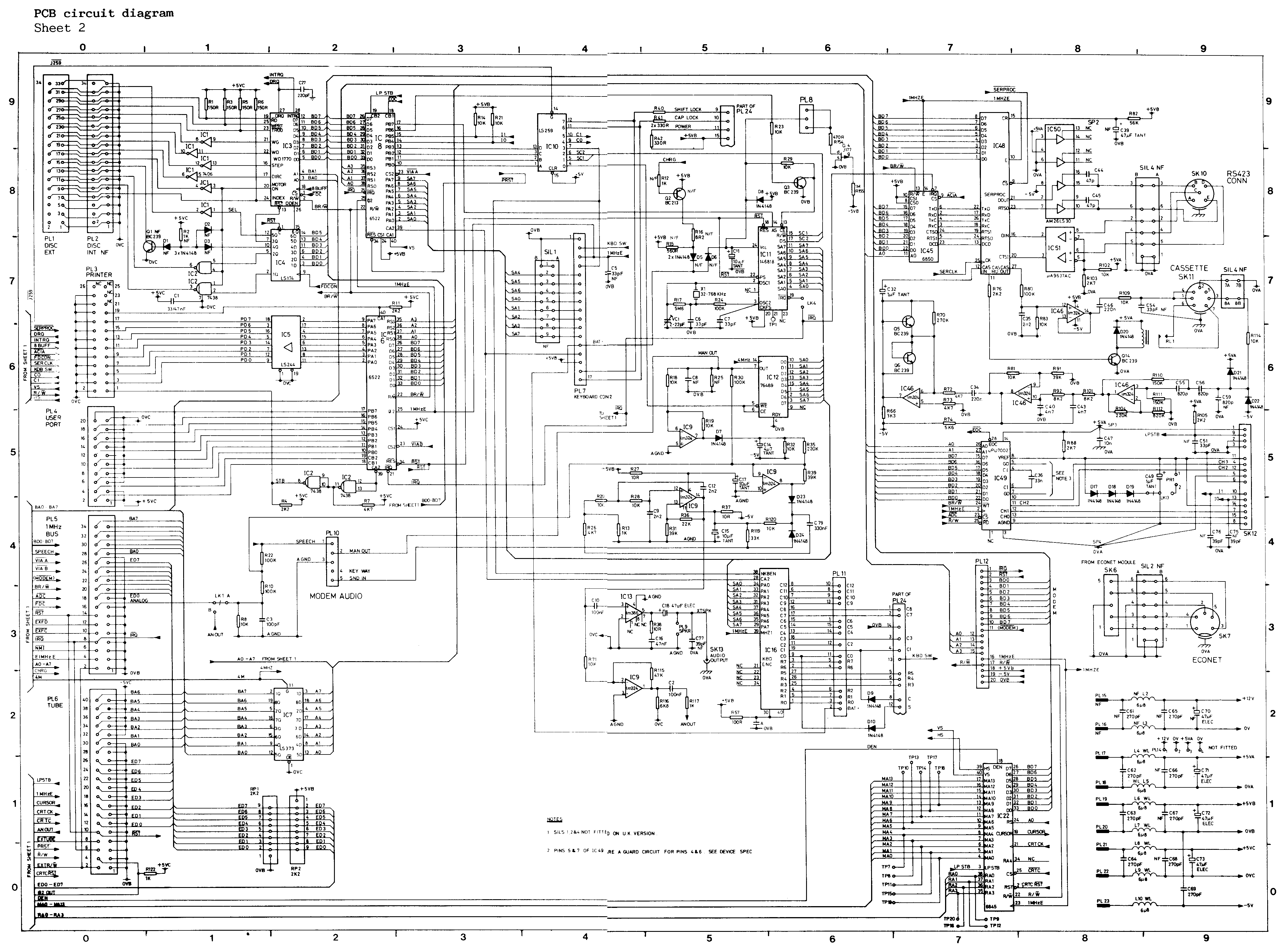 microcomputer - documents,Wiring diagram,Bbc Model B Circuit Diagram